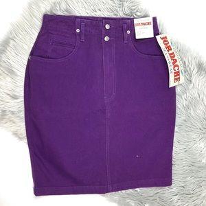 Vintage Jordache sz8 Skirt High Waist Denim Jean